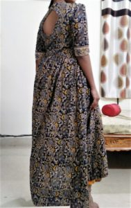 Kalamkari Kurta Design | Kalamkari Kurta Designs - Back Neck