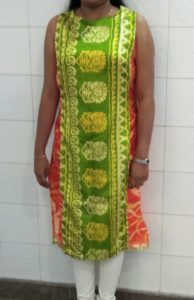 sleeveless kurta- Long jacket style