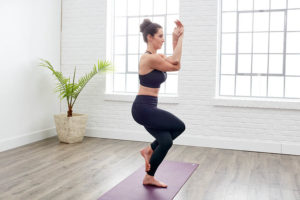yoga for stress -garudasana