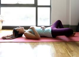 Yoga for stress - Supta Baddha Konasana (Reclined bound angle pose)