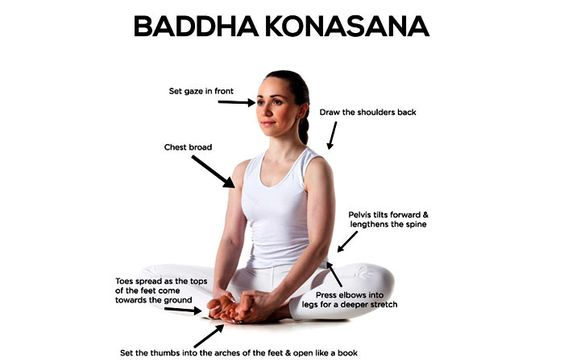 Yoga For flat feet - Baddha Konasana (Bound Angle Pose)