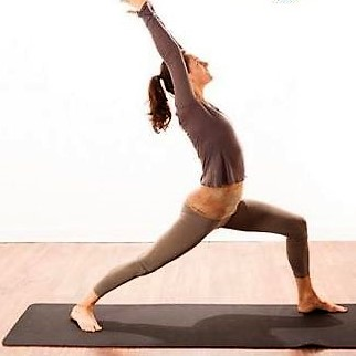 Virabadhrasana 1 (Warrior Pose 1) to stop emotional / stress eating