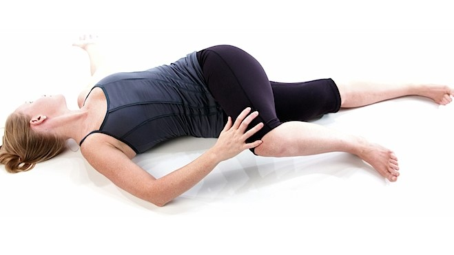yoga for period pain - lower body stretch
