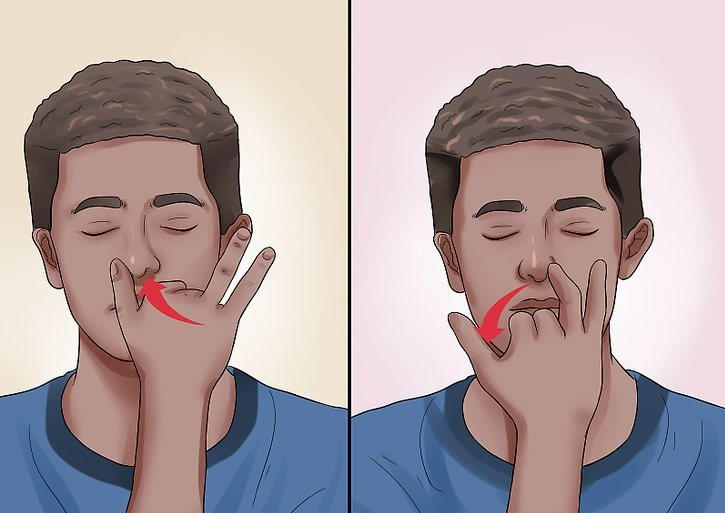 seated chair exercises at work - alternate nostril breathing