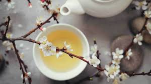 white tea in a white cup