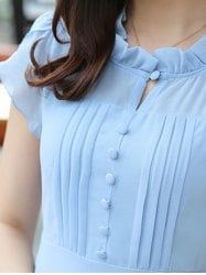 Ruffled Collar on Dress