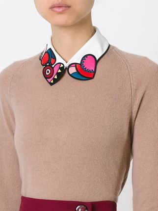 embroidered shirt collar