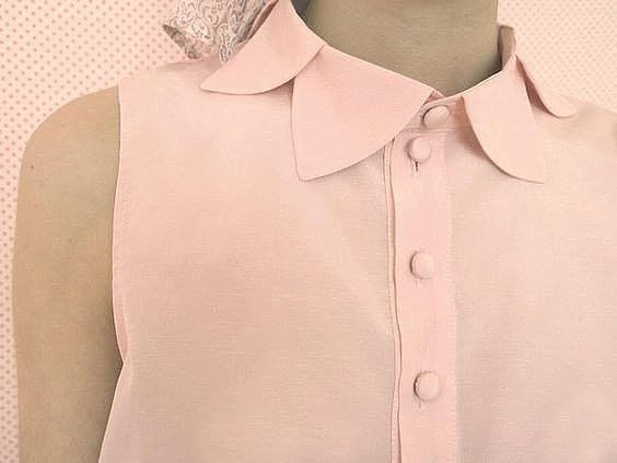flower petal collar shirt