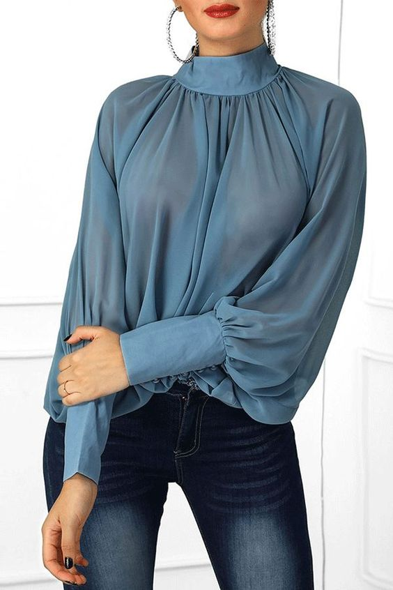 turtle neck collar top