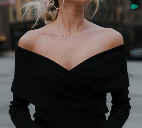 off shoulder neckline
