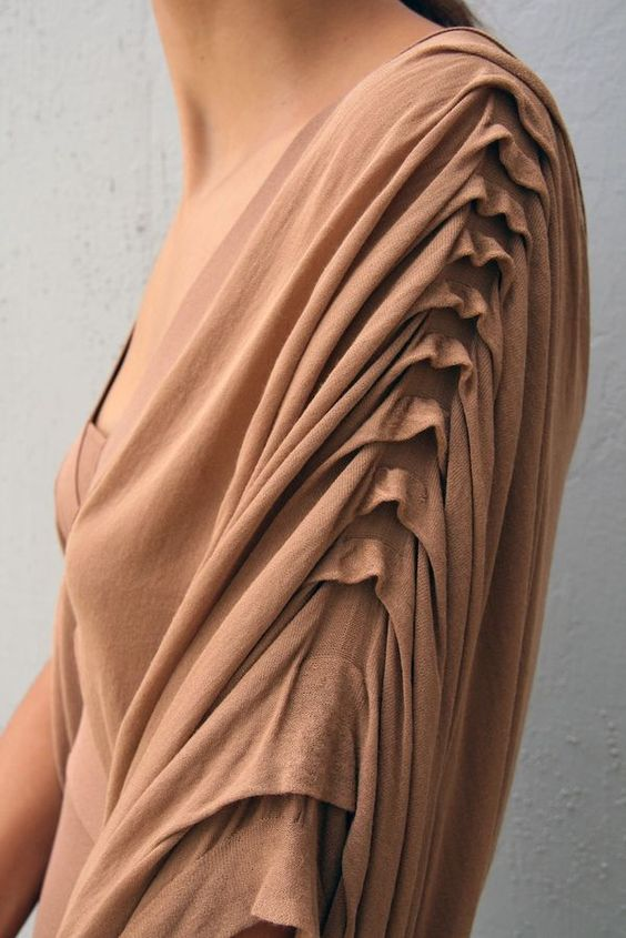 draped sleeves