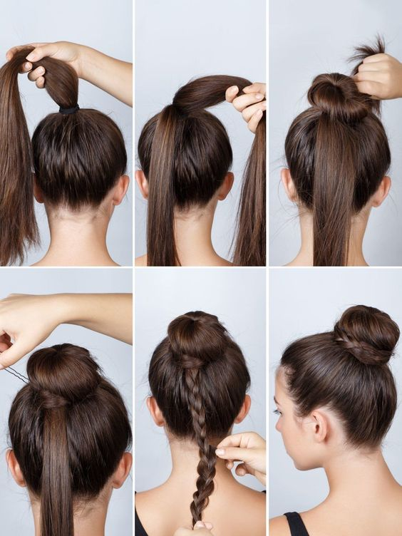 simple updo with braid