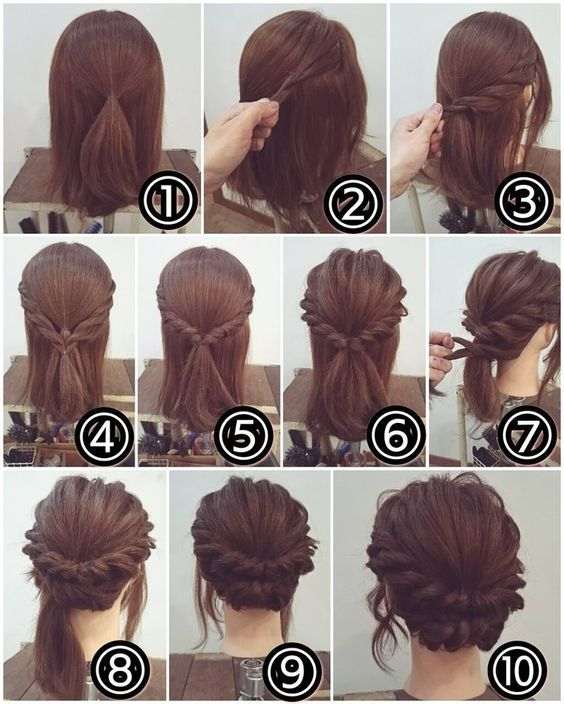 braided style updo