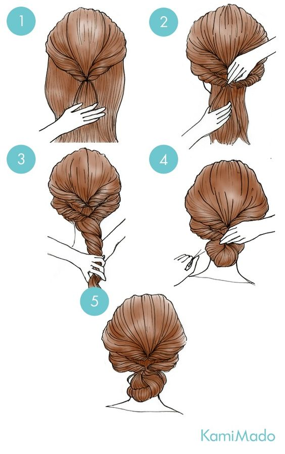 updo with hair twists