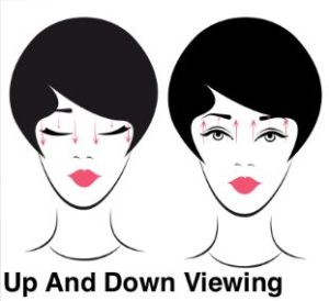 eye exercises - up and down viewing