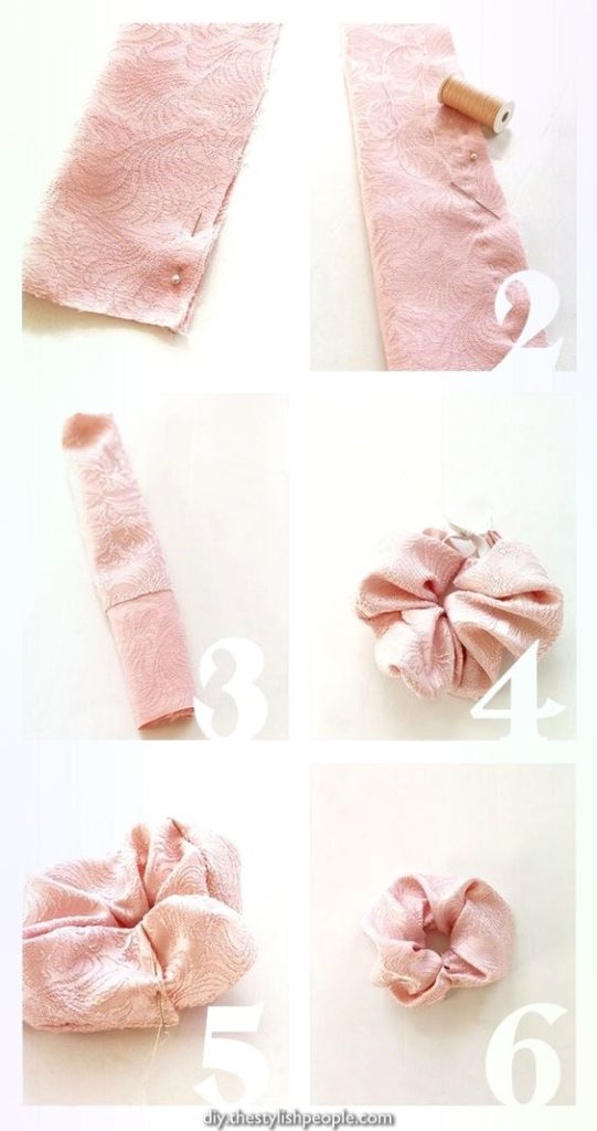 hand sew scrunchie step by step