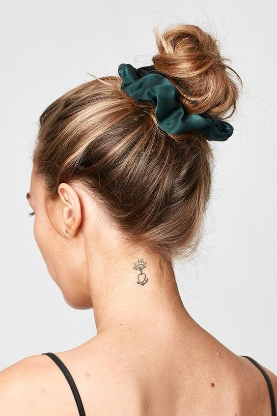 satin scrunchie updo