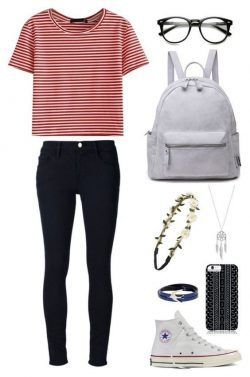 Striped T-Shirt with black jeans