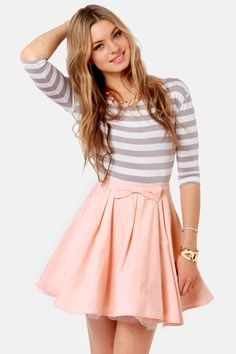 Cute Skirt with striped top