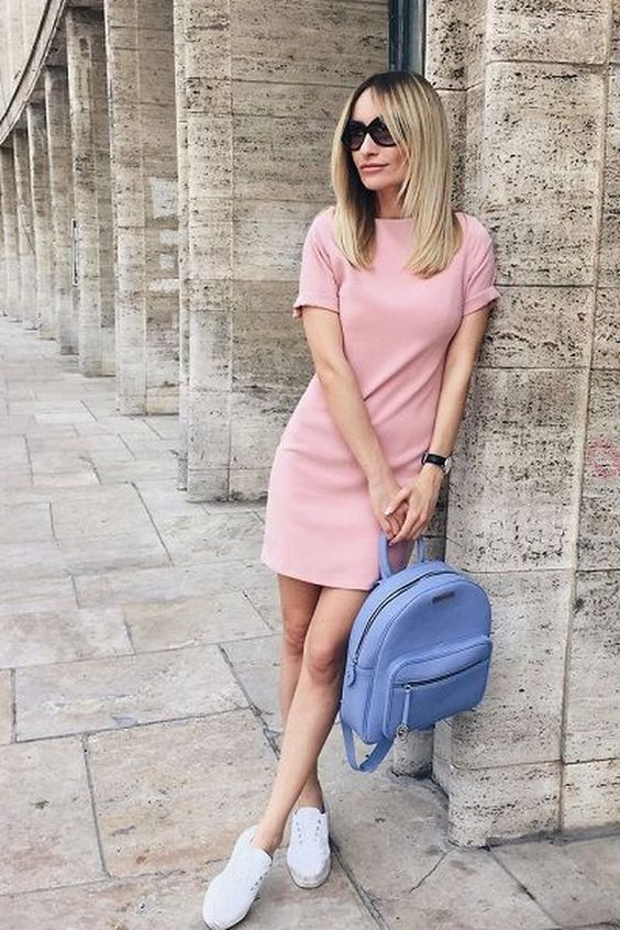 cute Pink Sheath Dress