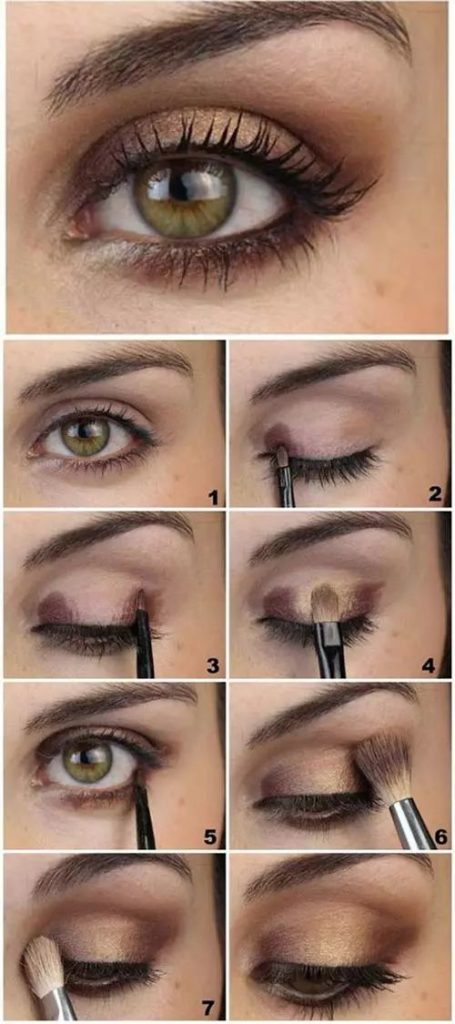 Brown And Gold Soft Eye Makeup