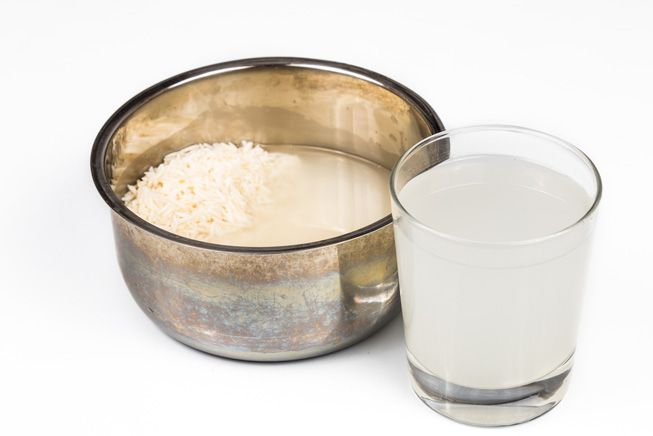 rice water by soaking