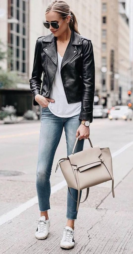 faux leather jacket - an essential piece for winter