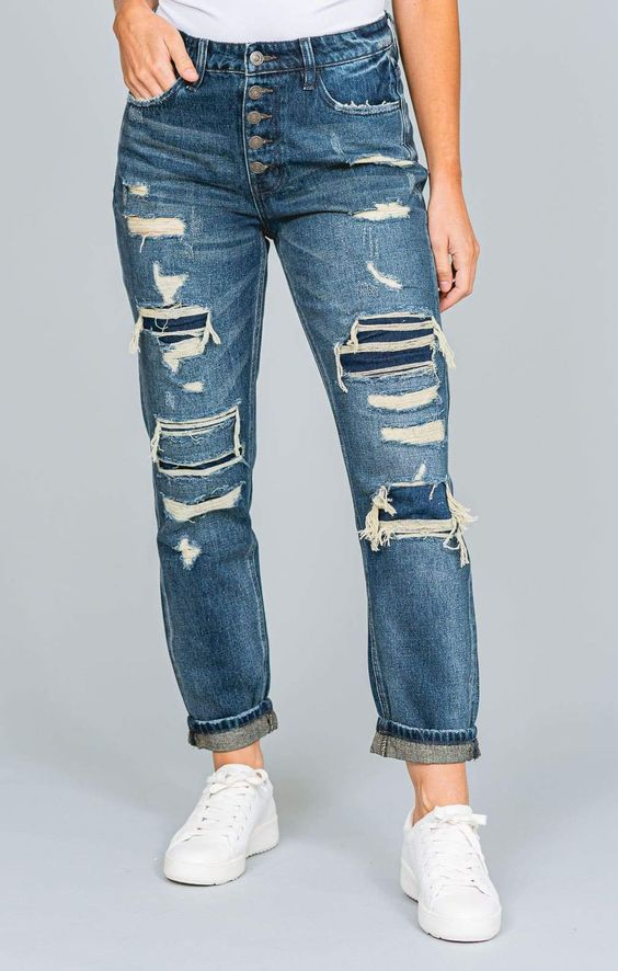 how to single cuff jeans