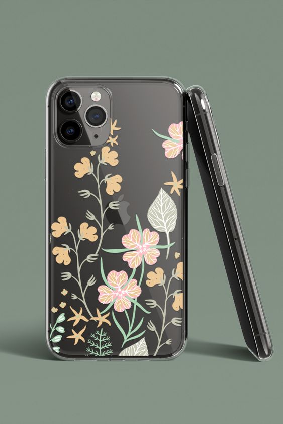 plant printed phone case