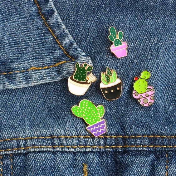 plants enamel pins