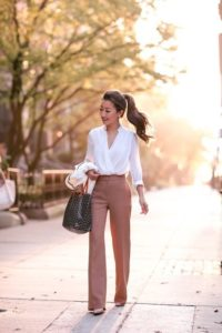 shirt with flared pants