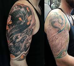 Forearm Dragon Cover Up Tattoo