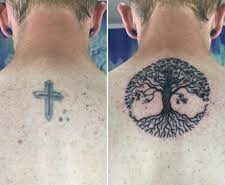 Neck Cross Tattoo Cover Up