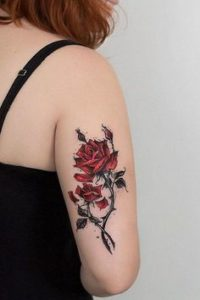 Rose And Thorns Tattoo