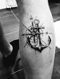 Compass And Anchor Tattoo ideas for men