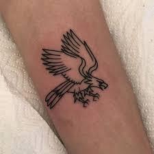 Minimalist Eagle Tattoo