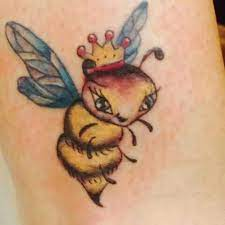 6. Animated Queen Bee Tattoo