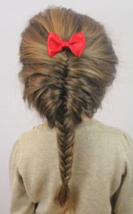Bow French Braid for kids