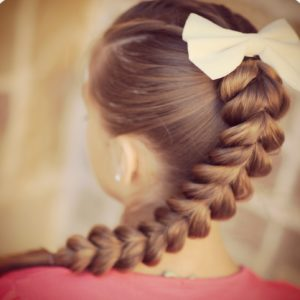 Inverted Hearts Braid for kids