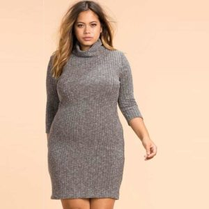 Plus Size Knitted Dress