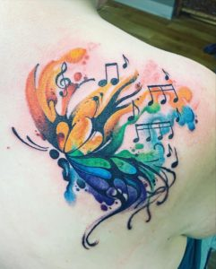 Watercolor Music Notes