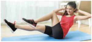 bicycle crunches to burn calories