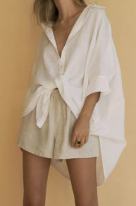 knot your oversized shirt