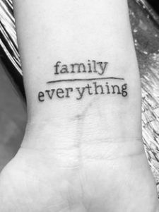 Family Over Everything tattoo