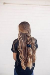 Braided Half Up With thin hair
