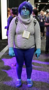 Sadness From Inside Out plus size halloween outfit